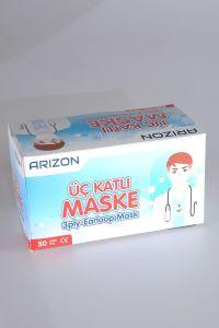 Arızon 10 Adet Üç Katlı Maske