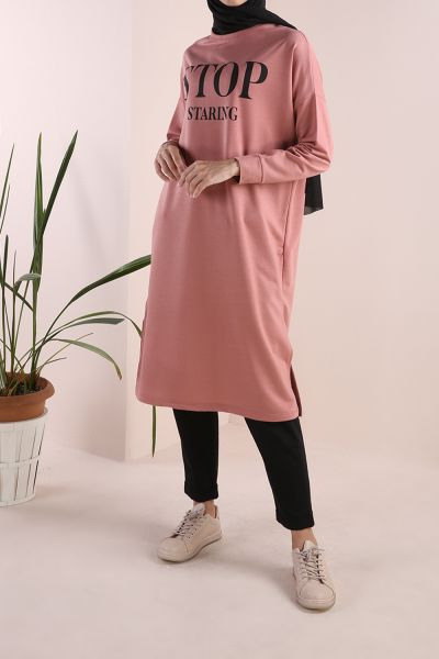 Baskılı Sweat Tunik