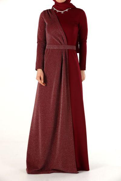 Simli Abiye Elbise