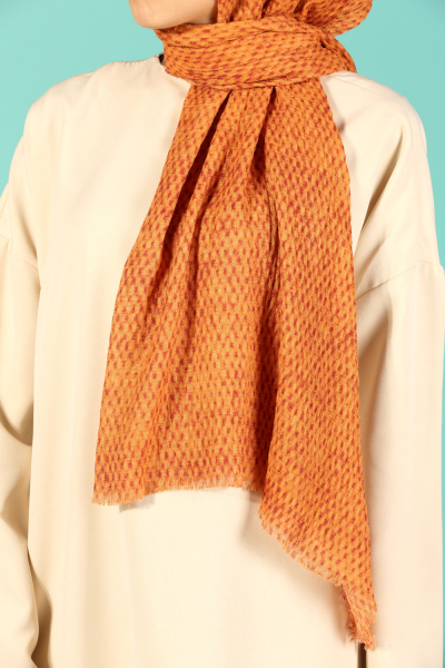 AKEL COTTON PATTERNED SHAWL
