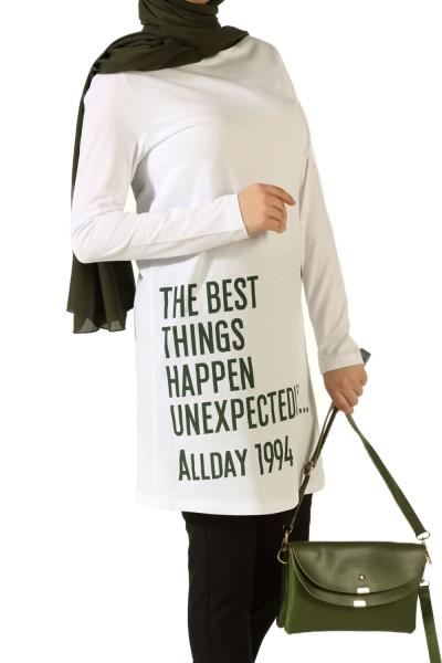 Allday 1994 Baskılı Penye Tunik