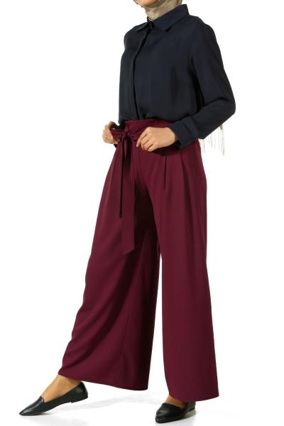 Arkası Lastikli Bol Pantolon