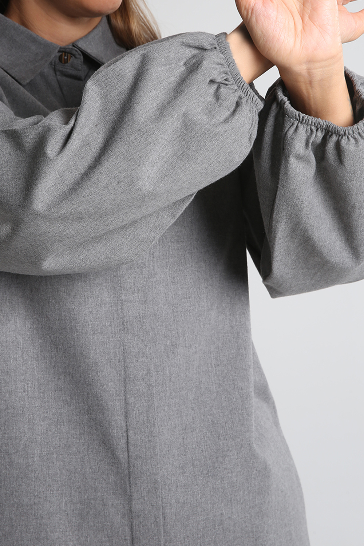 Arkası Nakışlı Gömlek Tunik