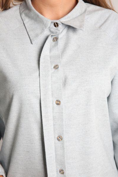 Arkası Nakışlı Patlı Gömlek Tunik