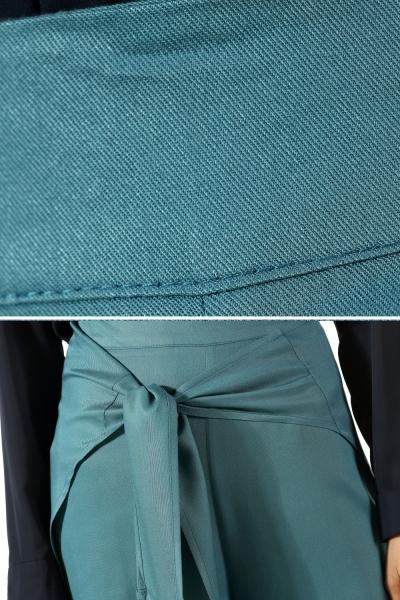 Viskon Arkası Parçalı Bağcıklı Pantolon