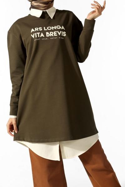 Ars Longa Vita Brevis Baskılı Sweatshirt