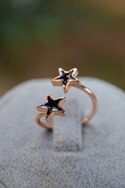 Artbutika Çift Yıldız Eklem Yüzük