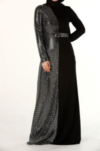 LINED HIJAB EVENING DRESS