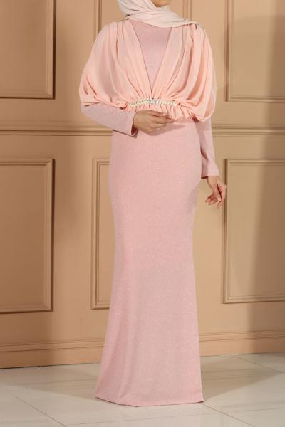 Astarlı Balık Model Abiye Elbise