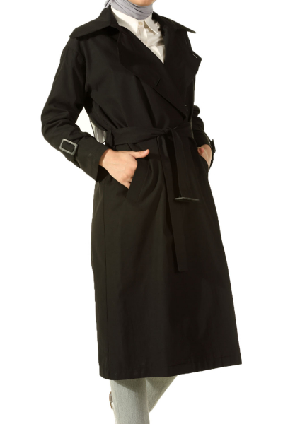 LINED BELTED TRENCH COAT
