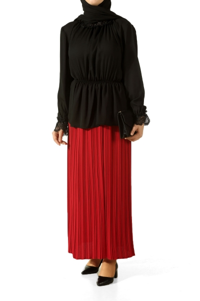 Pleated Lined Skirt
