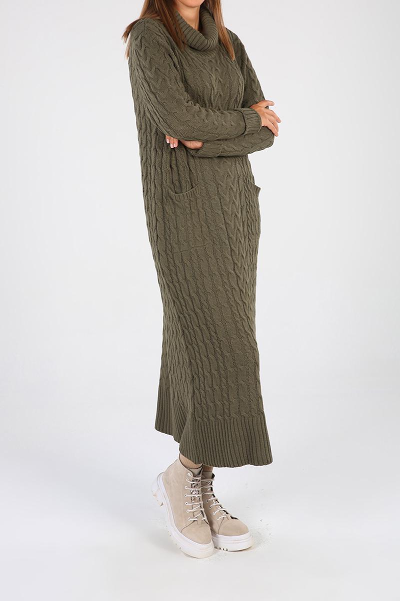 Turtleneck Pocket Dress
