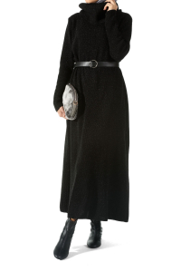 Balıkçı Yaka Simli Triko Elbise