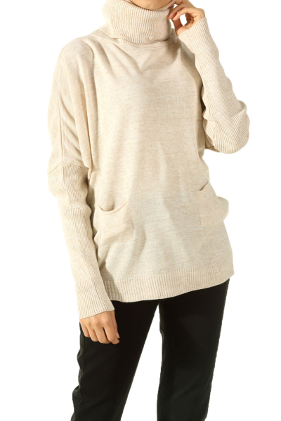 TURTLE NECK KNITWEAR BLOUSE
