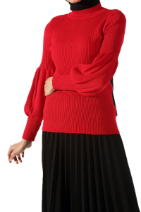 BALLOON SLEEVE KNITWEAR SWEATER