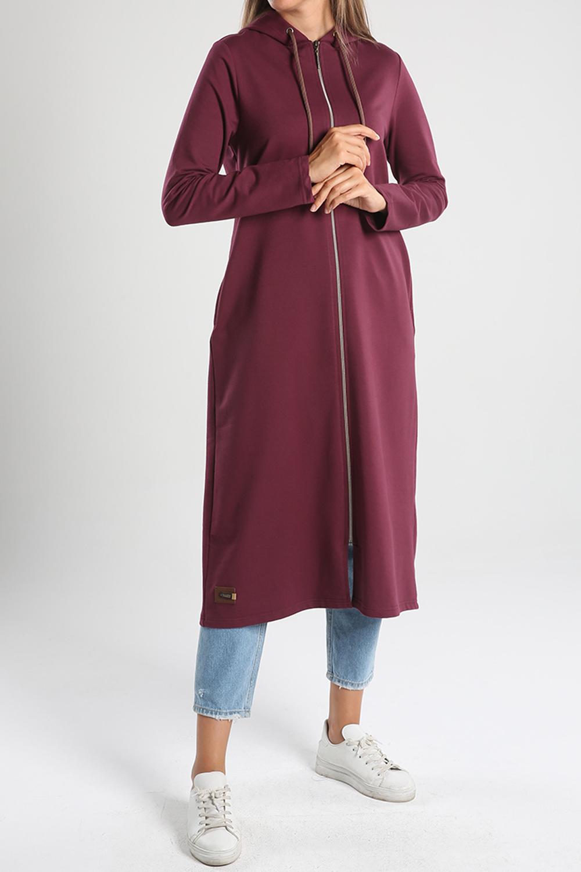 Basic Hooded Combed Cotton Cardigan