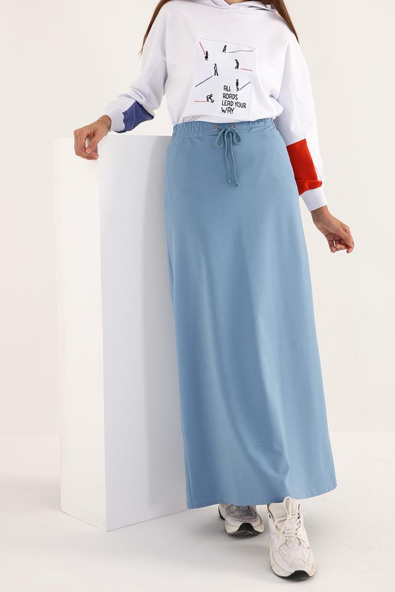 High Waist Basic Long Skirt