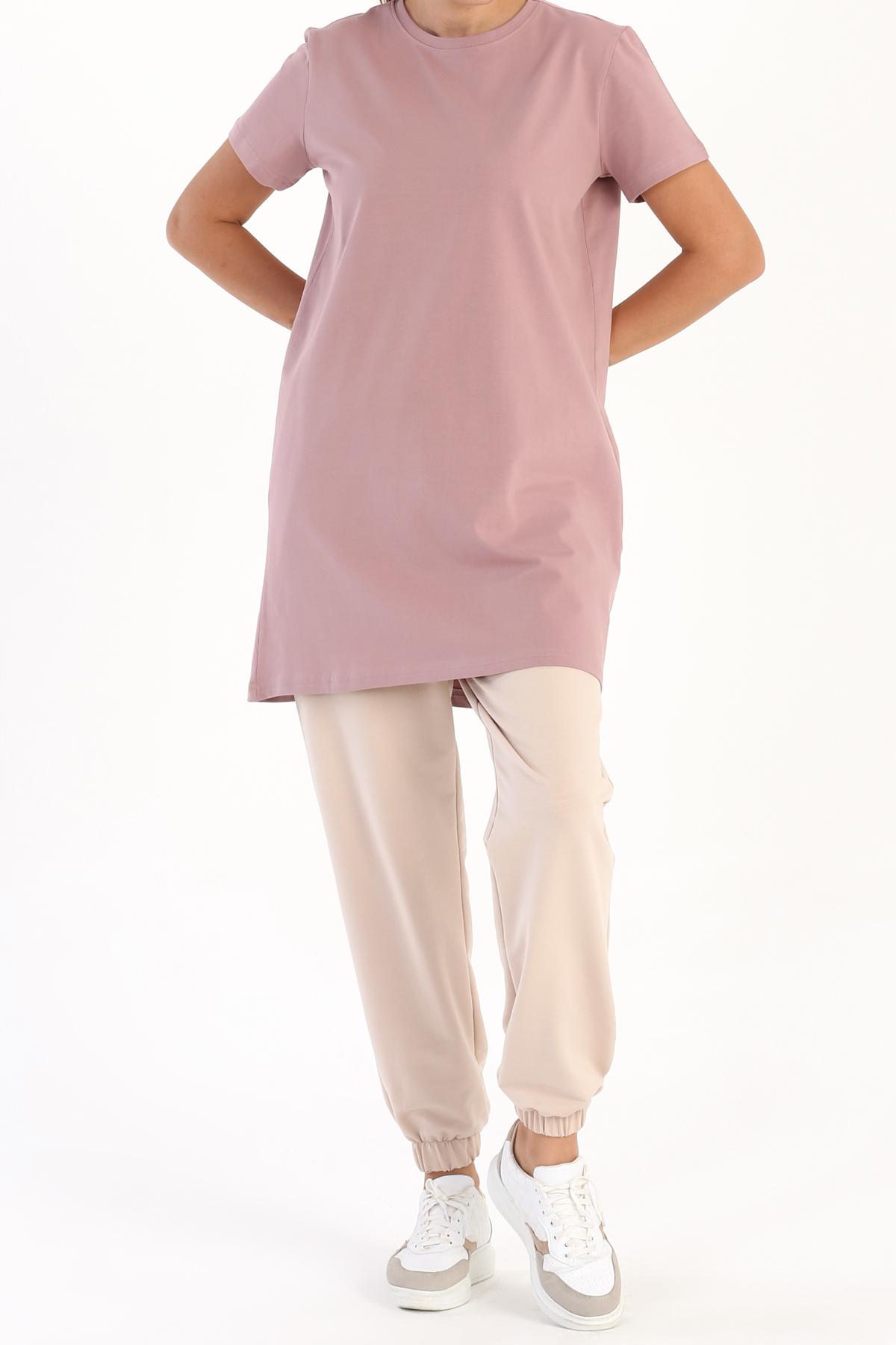 Basic Pamuklu Kısa Kollu T-Shirt Tunik
