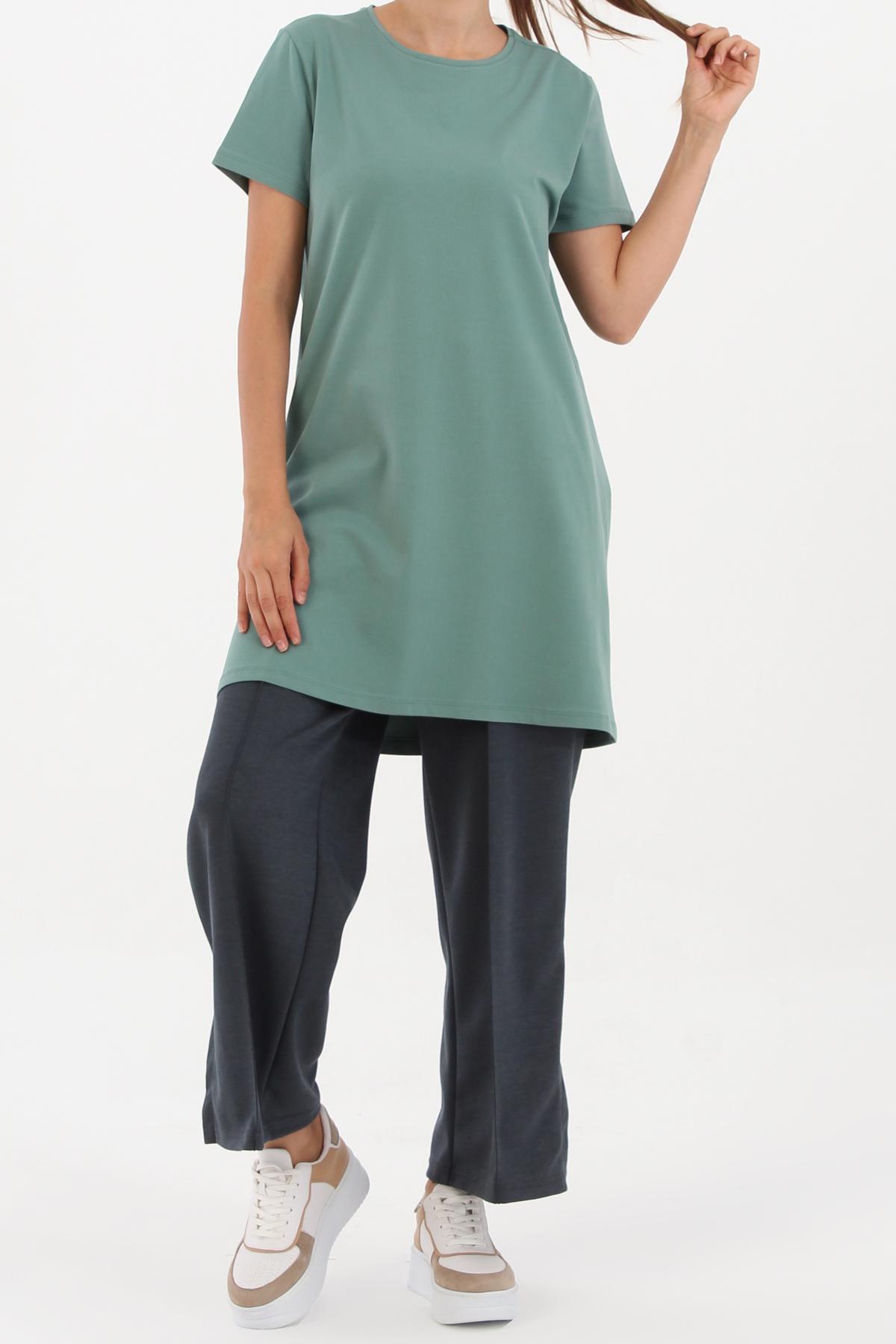 Basic Cotton Short Sleeve T-shirt Tunic