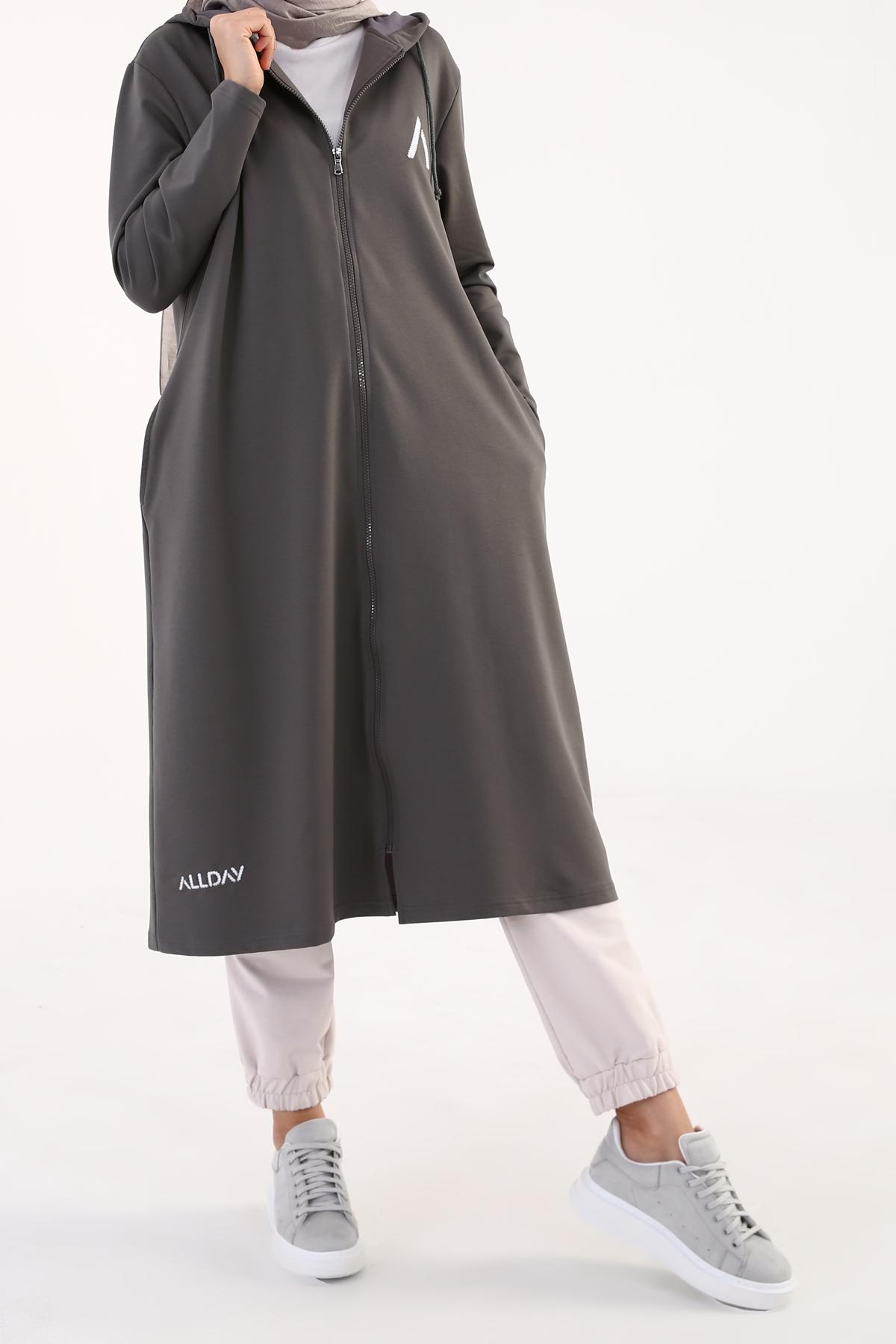 Printed Plus Size Cardigan