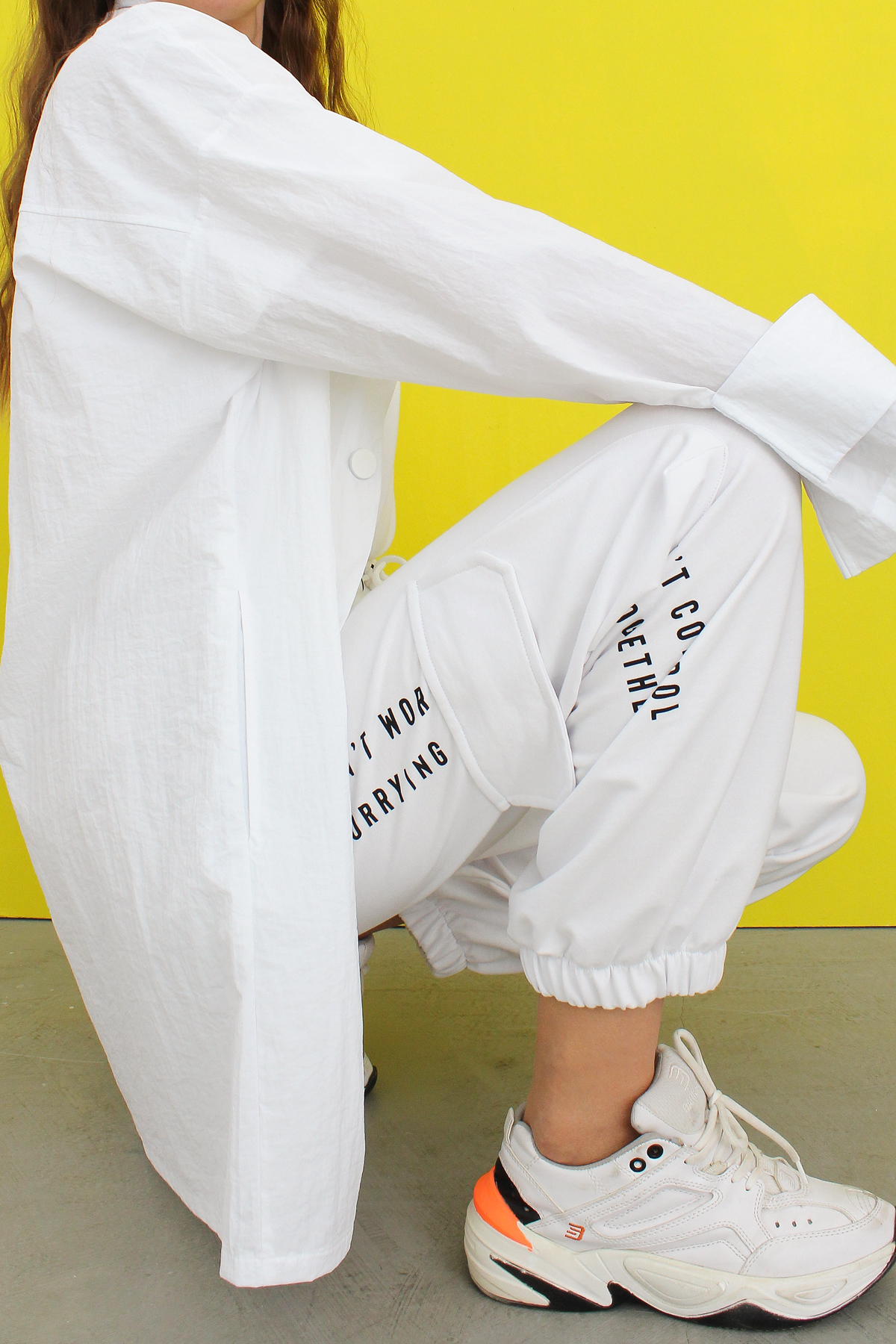 Printed Pocket Detail Sweatpants