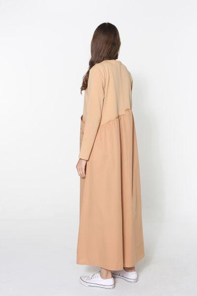 Baskılı Garnili Elbise
