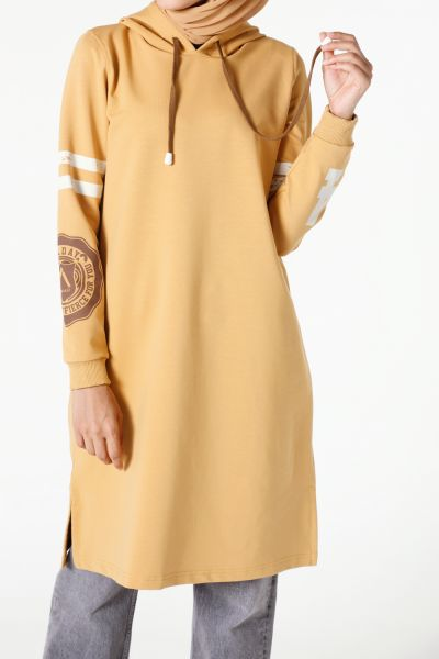 PRINTED HOODED TUNIC