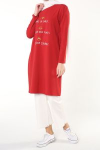 PRINTED COMBED COTTON TUNIC