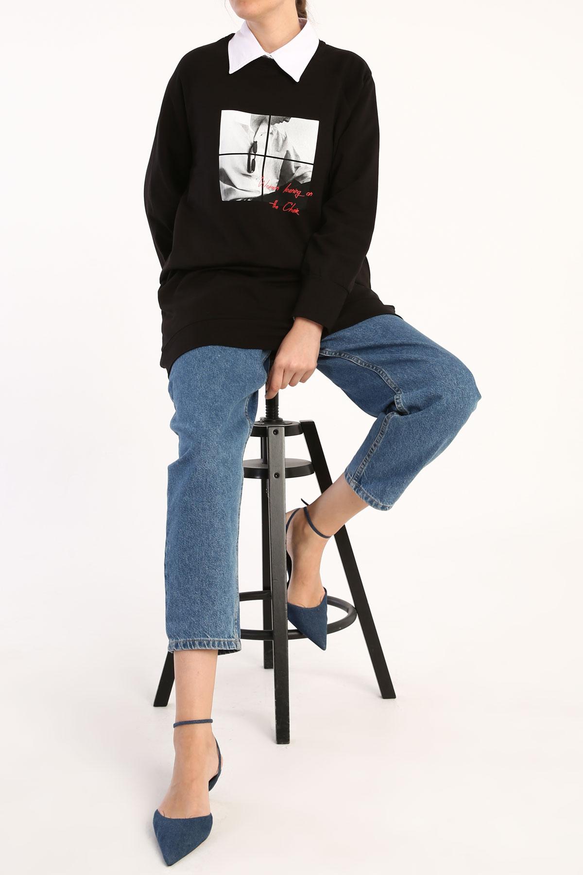 Comfy Printed Sweatshirt Tunic