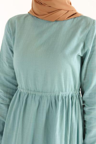 Bel Büzgülü Elbise