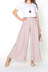 ELASTIC WAIST POCKET WIDE LEG HIJAB PANTS