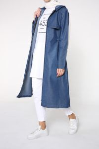 ELASTIC WAIST DENIM CAPE