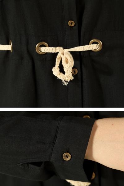 Drawstring Waist Tunic