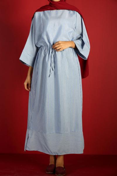 DRAWSTRING WAIST DRESS