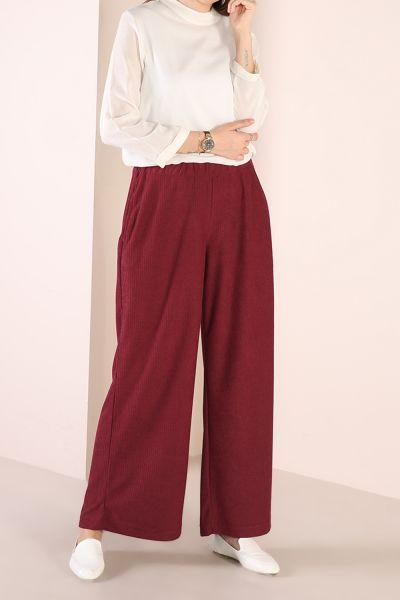 Beli Lastikli Cepli Bol Pantolon