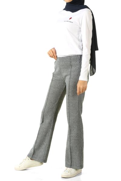 Beli Lastikli Çima Dikişli Pantolon