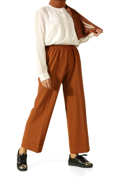 Beli Lastikli Duble Paça Pantolon