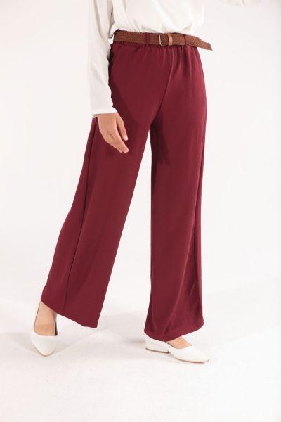 Beli Lastikli Kemerli Pantolon
