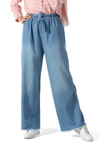Beli Lastikli Kot Pantolon