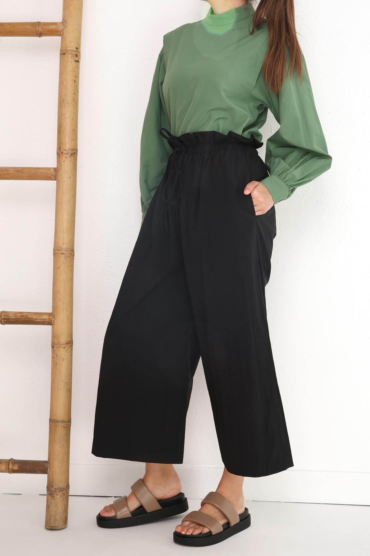 Comfy Elastic Waist Pockets Pants