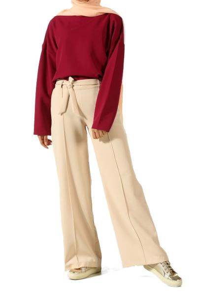 Lastikli Kuşaklı Pantolon