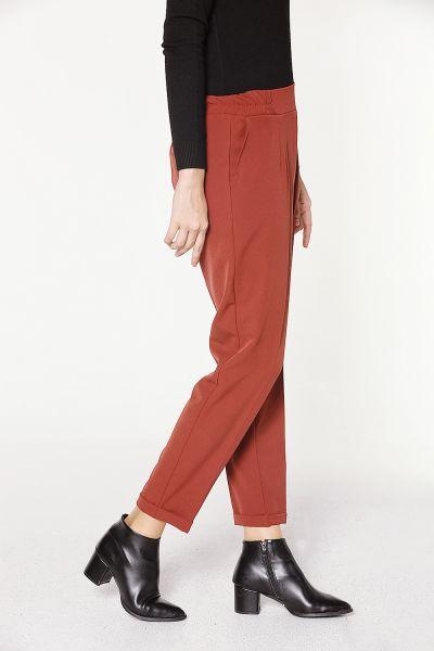 Beli Lastikli Paça Katlı Pantolon
