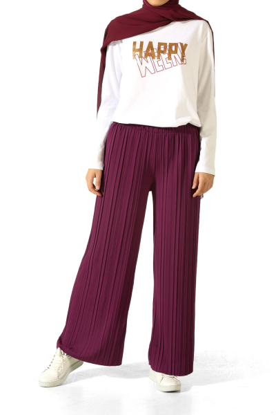 HIJAB ELASTIC WAIST PLEATED PANTS