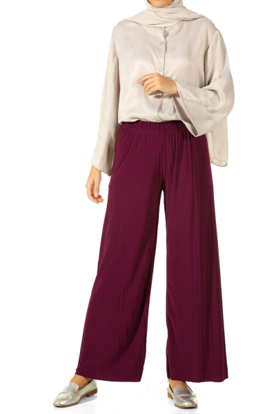 ELASTIC WAIST PLEATED HIJAB PANTS