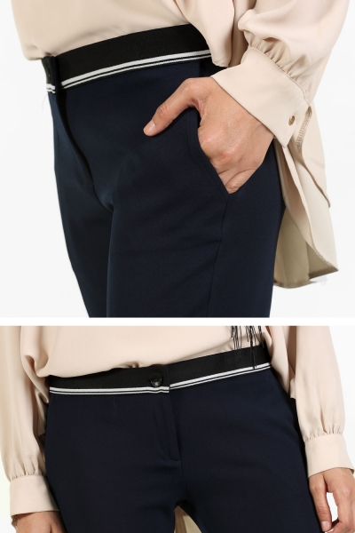 Beli Süs Lastikli Pantolon