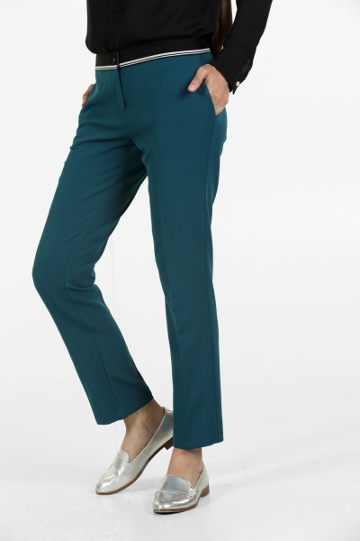 HIJAB DECORATIVE ELASTIC WAIST SKINNY PANTS