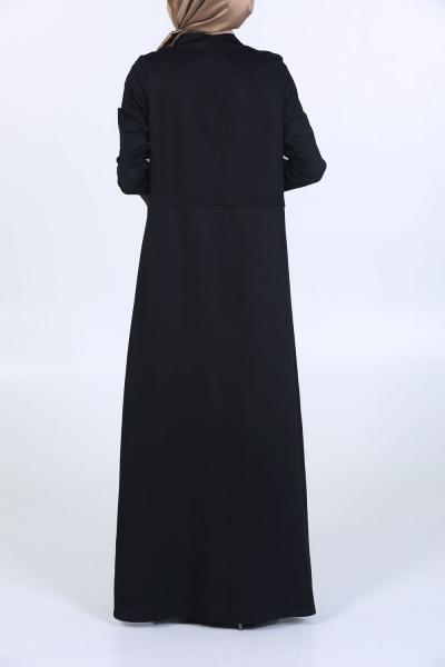Yatay Pileli Elbise