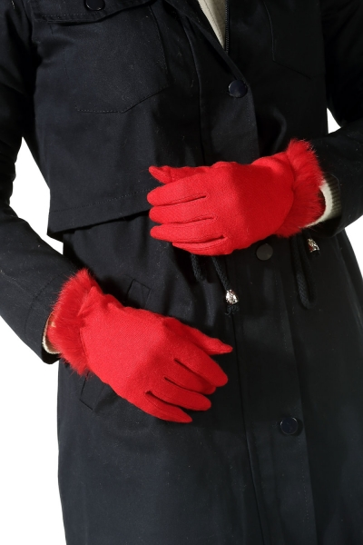 FABRIC LEATHER GLOVE