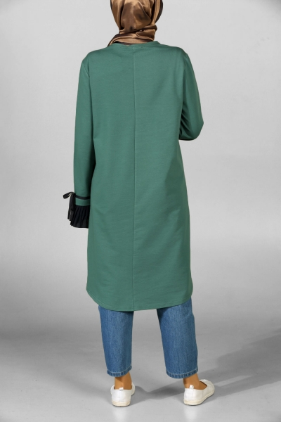 CREW NECK COMBED COTTON TUNIC