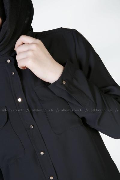 Düğmeli Bluz